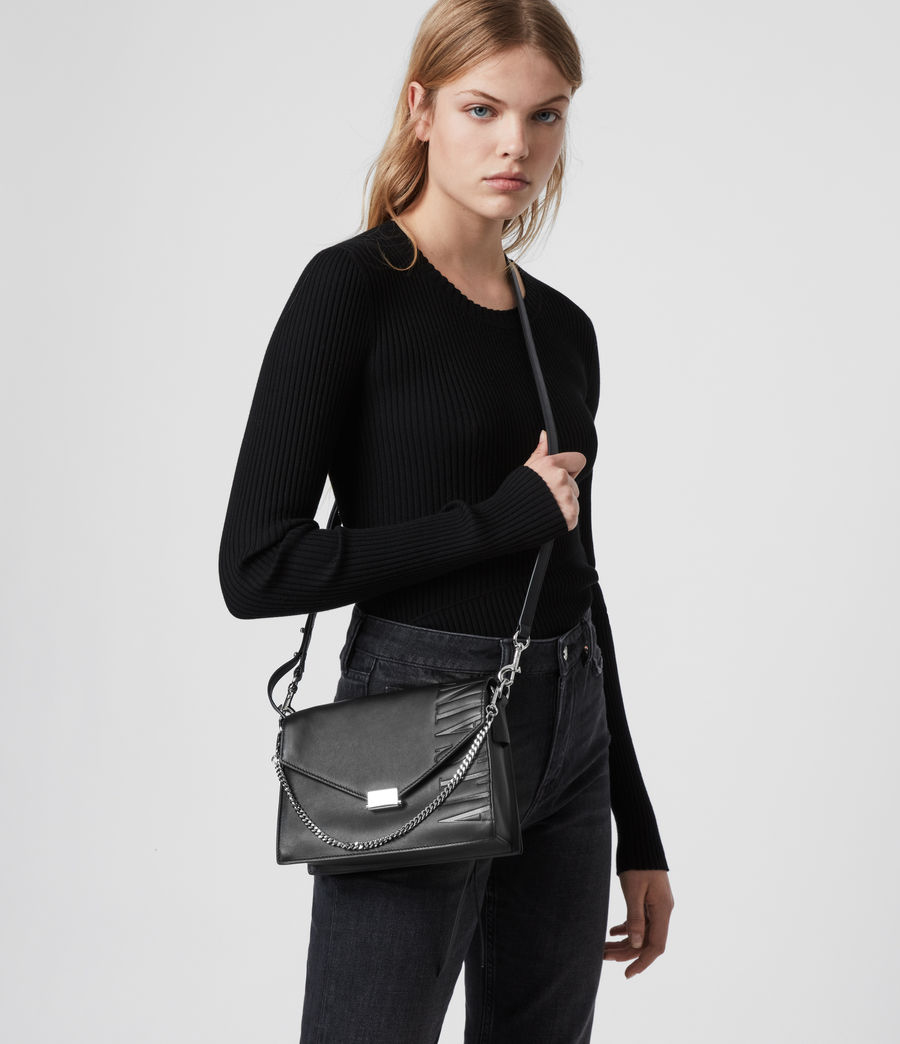 Womens Redchurch Leather Shoulder Bag (grey_mist) - Image 2