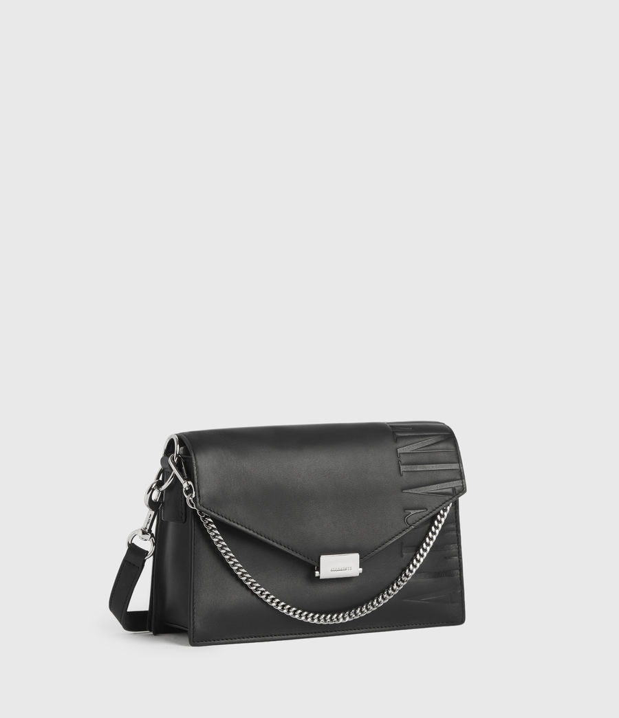 Womens Redchurch Leather Shoulder Bag (grey_mist) - Image 3