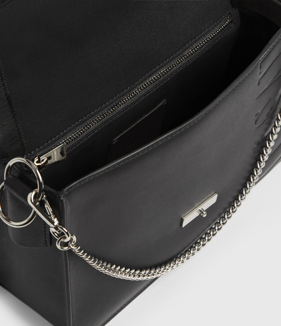 Womens Redchurch Leather Shoulder Bag (grey_mist) - Image 4