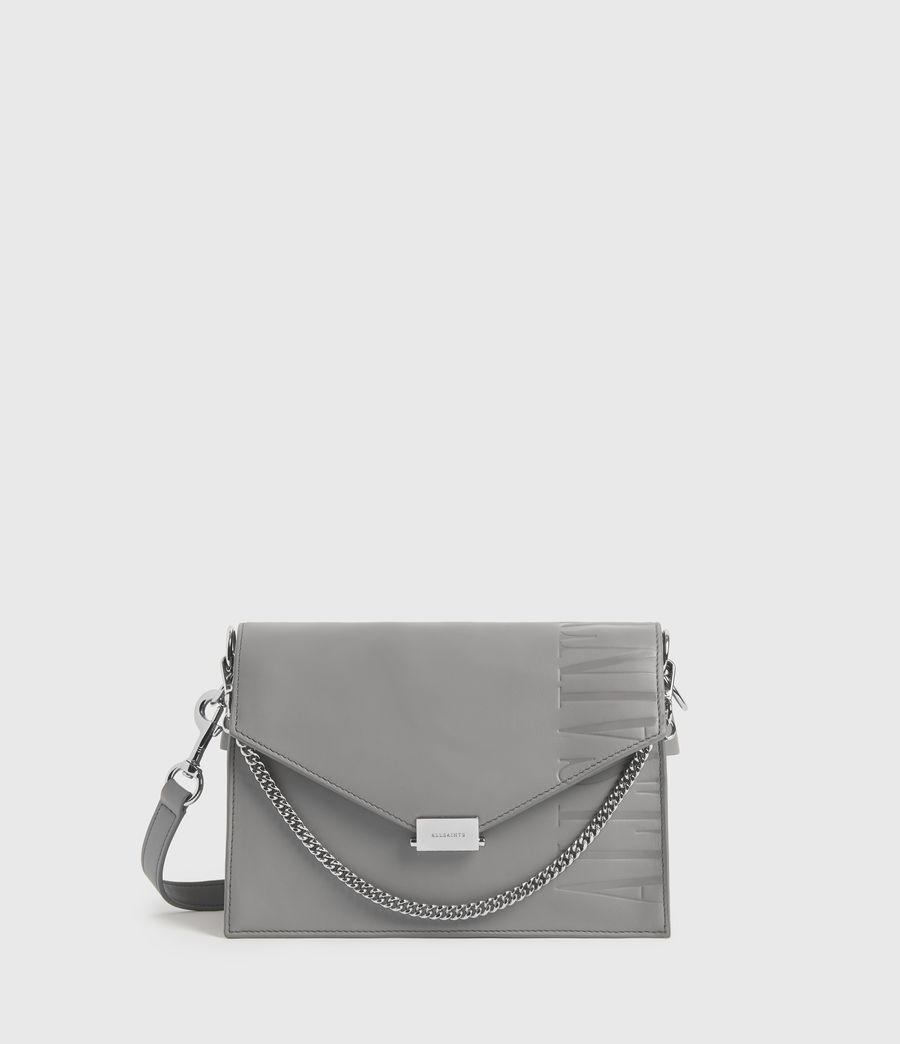 Women's Redchurch Leather Shoulder Bag (grey_mist) - Image 1