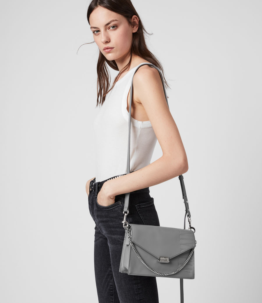 Women's Redchurch Leather Shoulder Bag (black) - Image 2