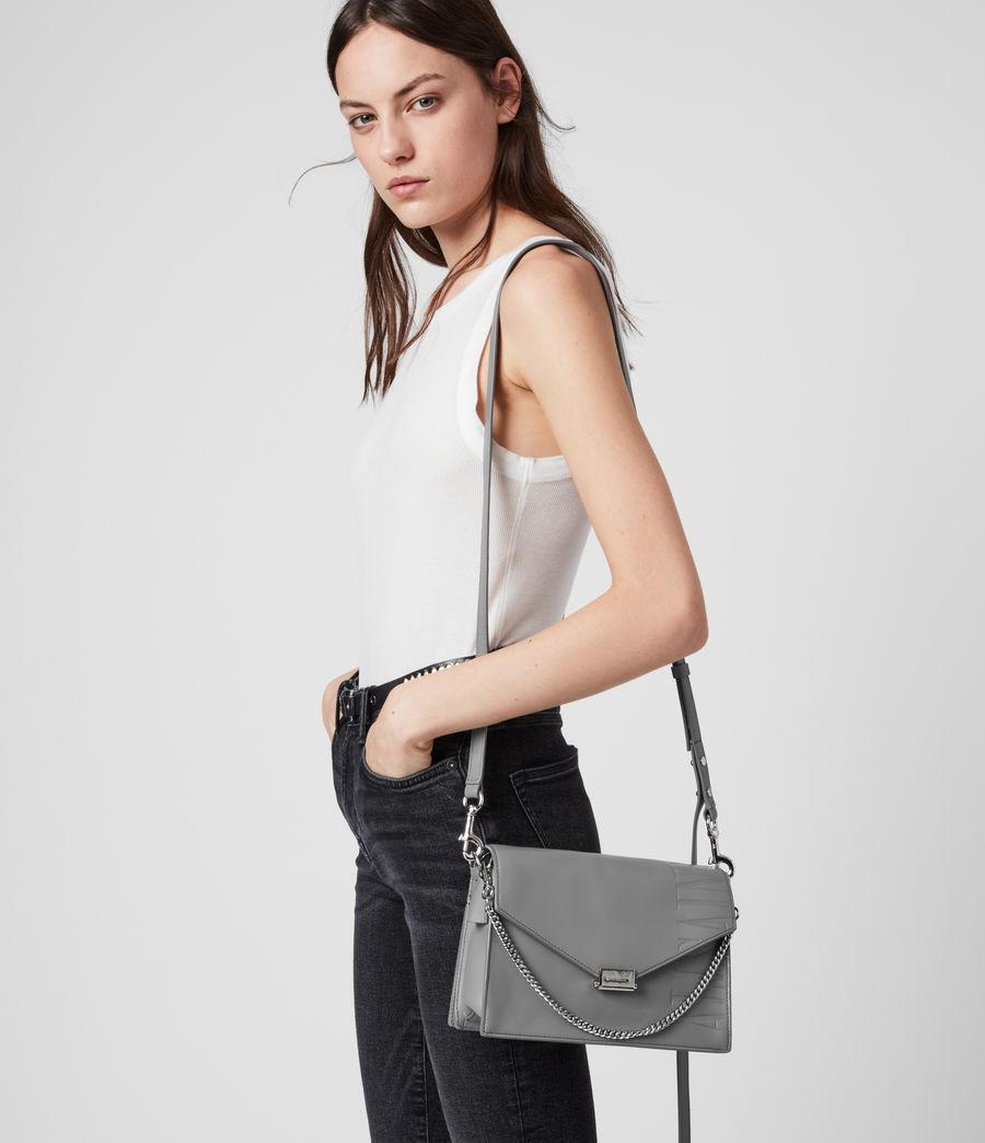 Women's Redchurch Leather Shoulder Bag (grey_mist) - Image 2