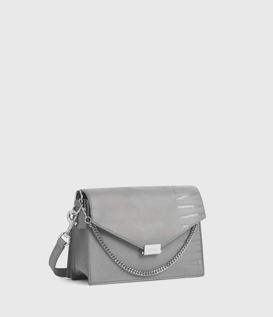 Women's Redchurch Leather Shoulder Bag (grey_mist) - Image 3