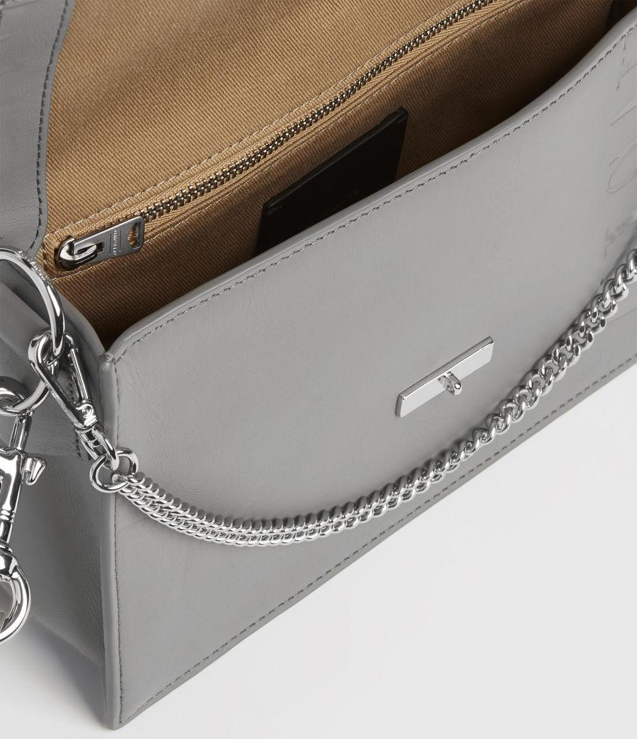 Women's Redchurch Leather Shoulder Bag (grey_mist) - Image 4