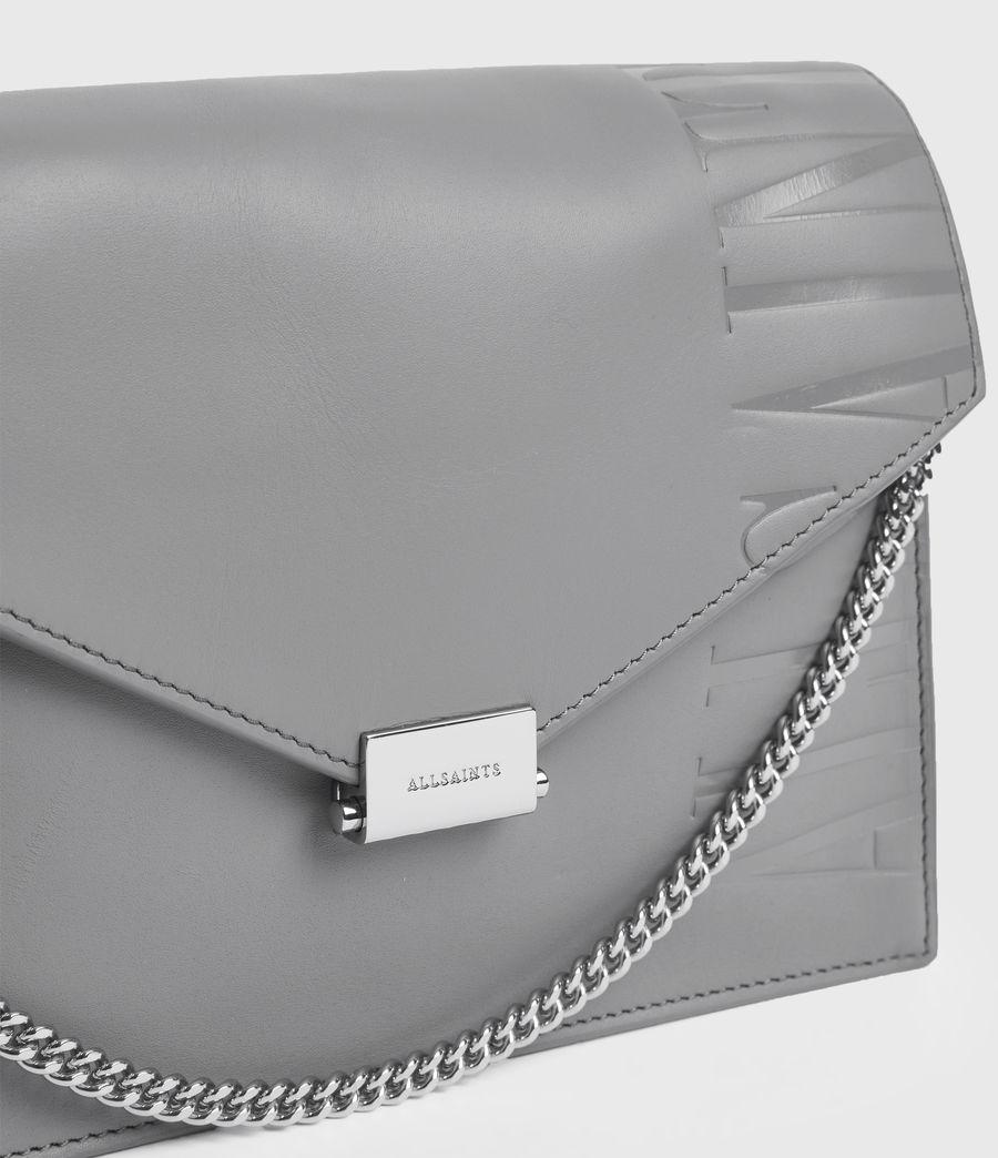 Women's Redchurch Leather Shoulder Bag (grey_mist) - Image 5