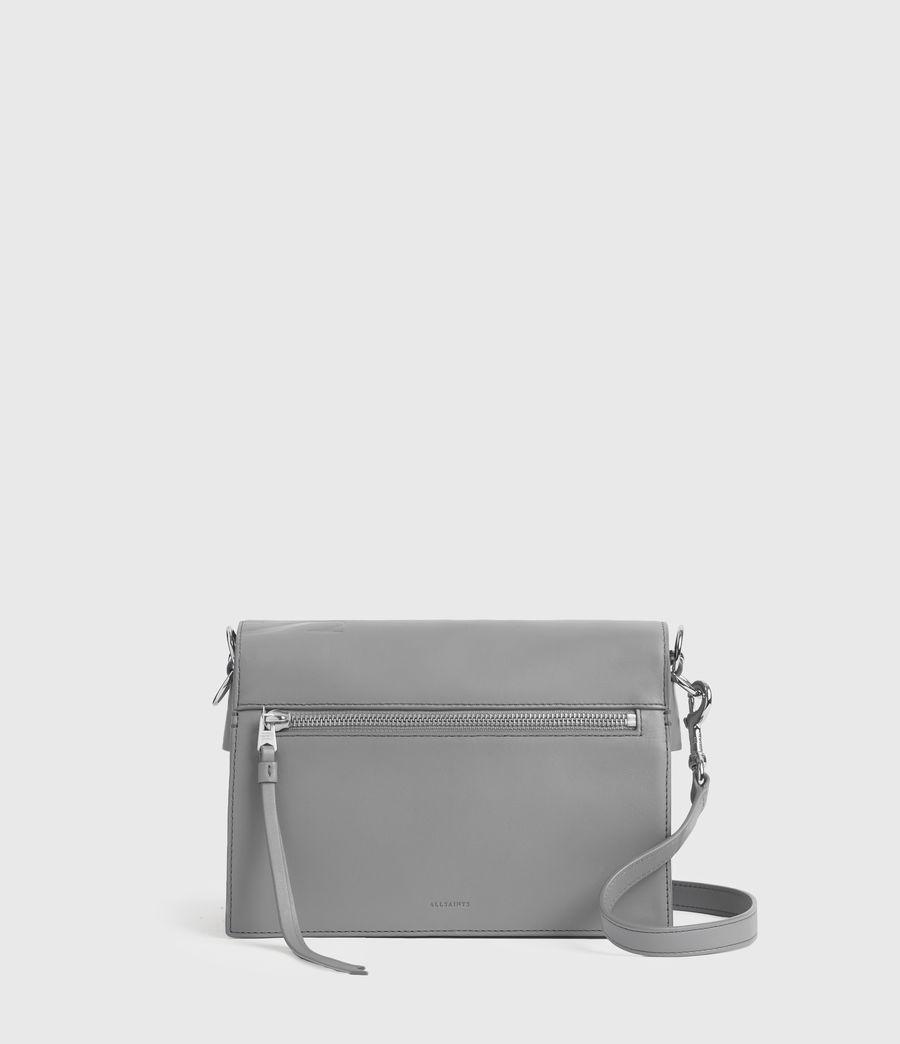 Women's Redchurch Leather Shoulder Bag (grey_mist) - Image 6