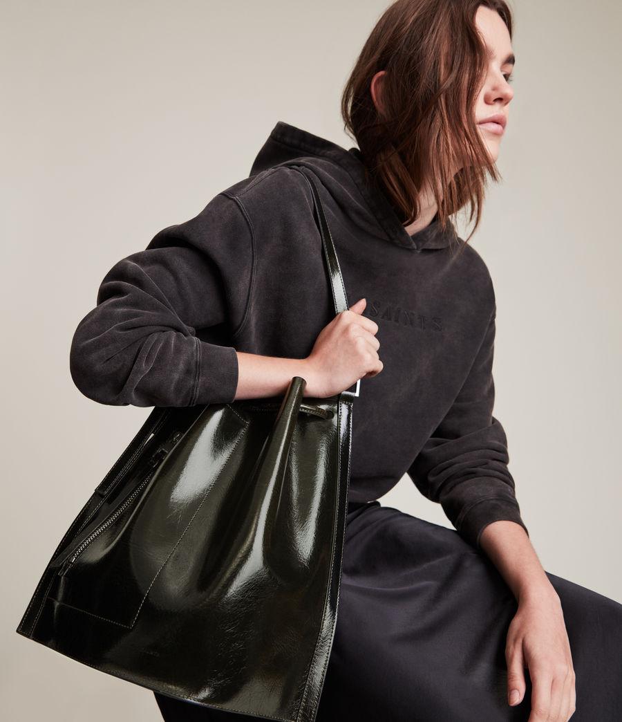 Womens Alpha Leather Backpack (liquid_khaki) - Image 1