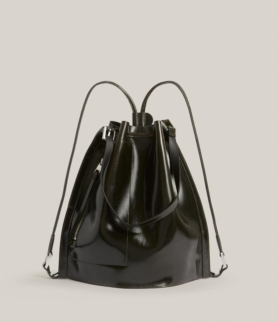 Womens Alpha Leather Backpack (liquid_khaki) - Image 2