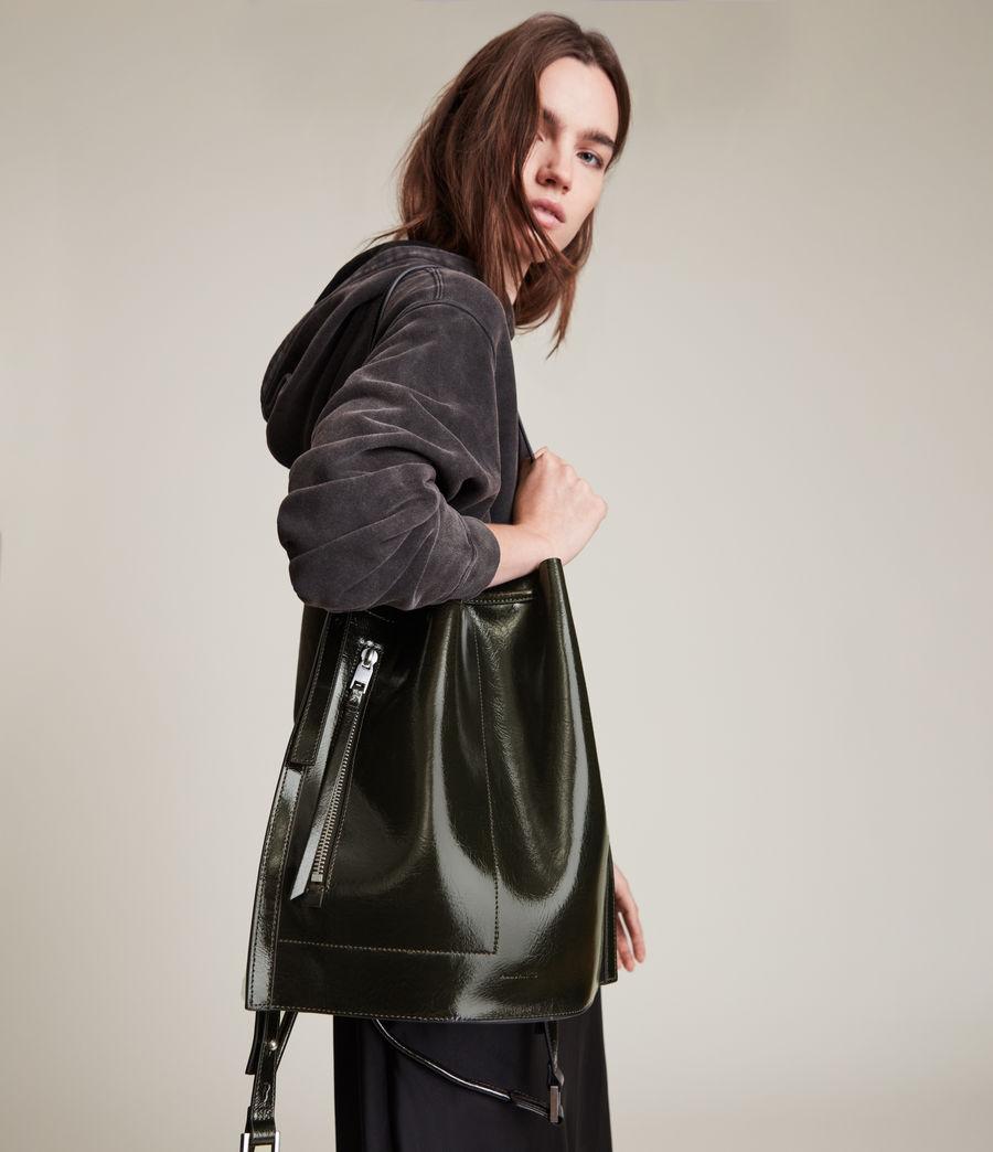 Womens Alpha Leather Backpack (liquid_khaki) - Image 4