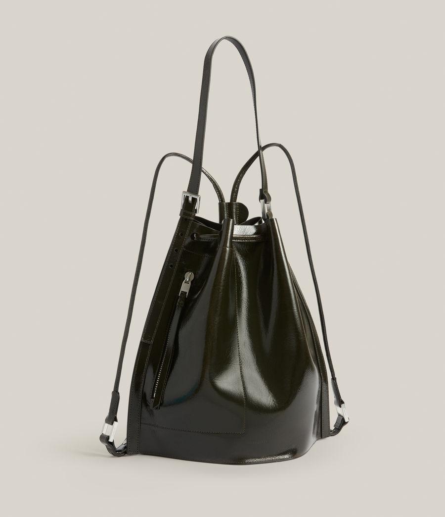 Womens Alpha Leather Backpack (liquid_khaki) - Image 5