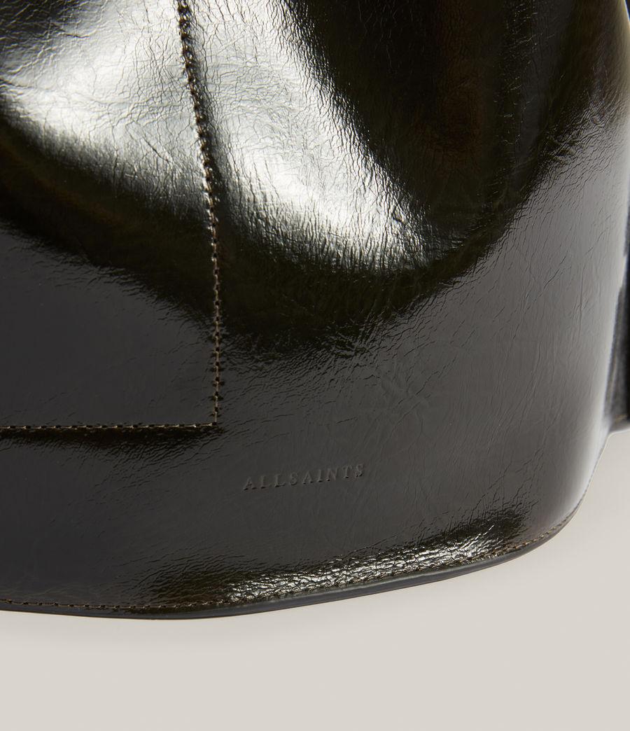 Womens Alpha Leather Backpack (liquid_khaki) - Image 6