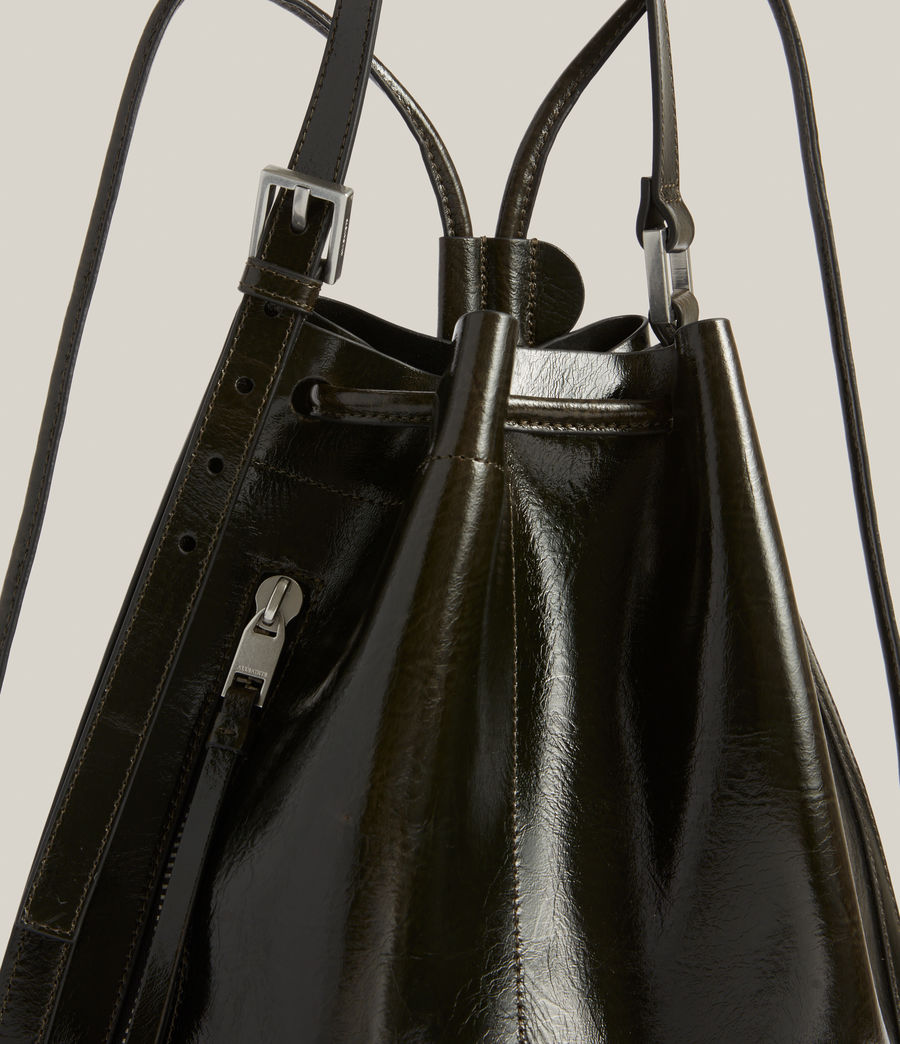Womens Alpha Leather Backpack (liquid_khaki) - Image 7