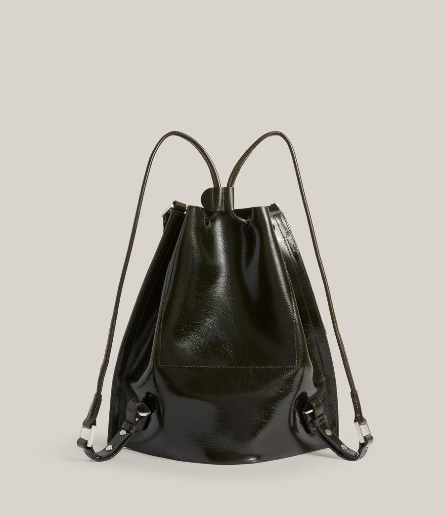Womens Alpha Leather Backpack (liquid_khaki) - Image 8