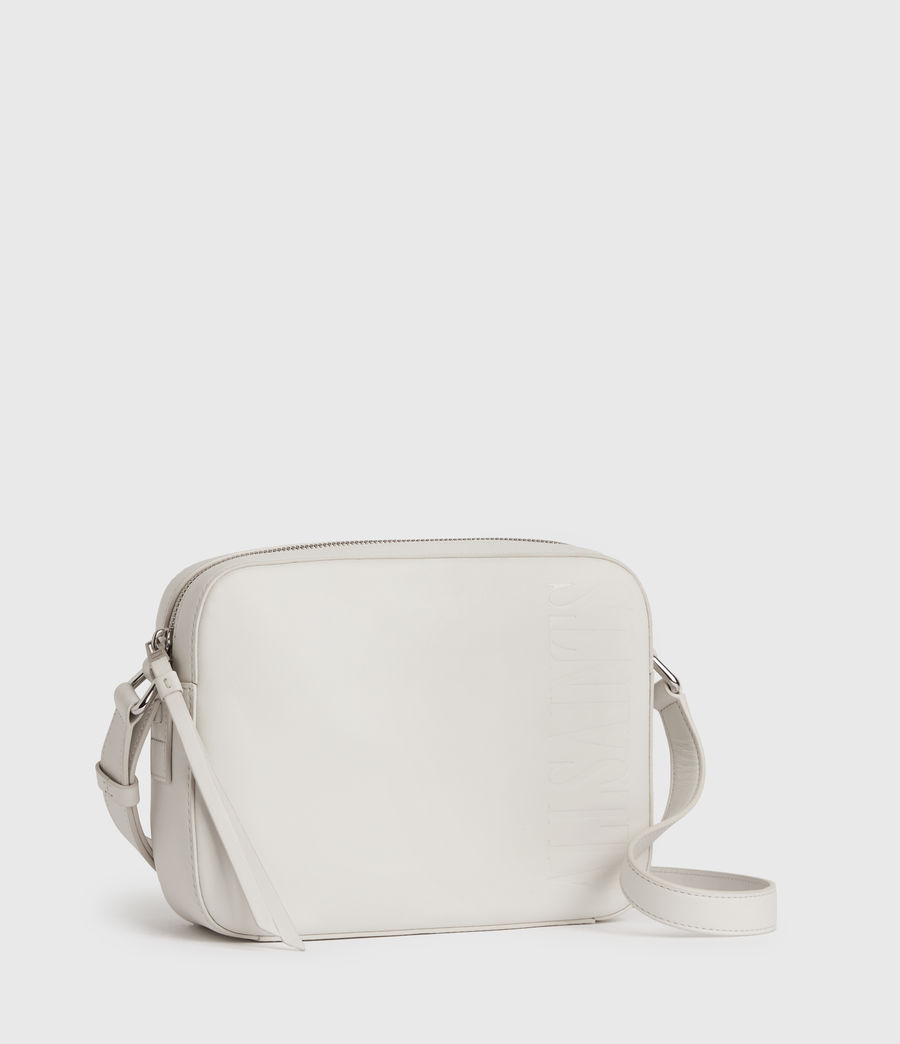 Women's Rhoda Square Leather Crossbody Bag (chalk_white) - Image 3