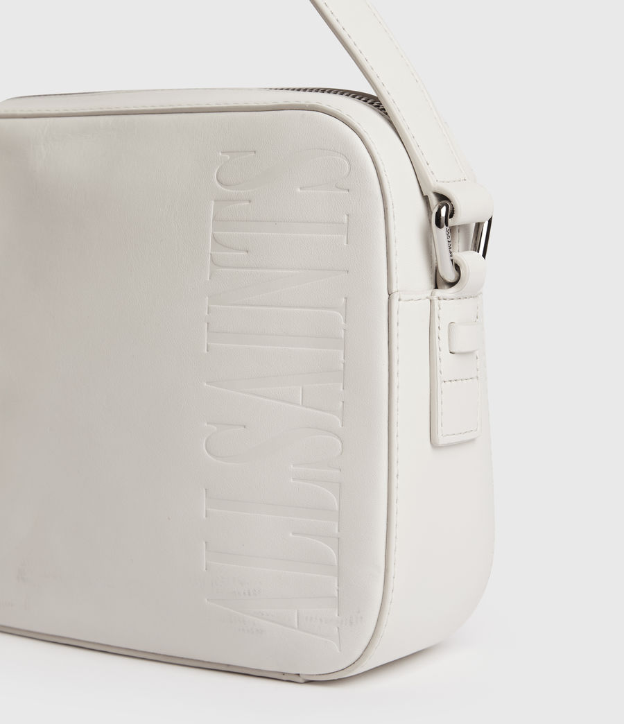 Women's Rhoda Square Leather Crossbody Bag (chalk_white) - Image 5