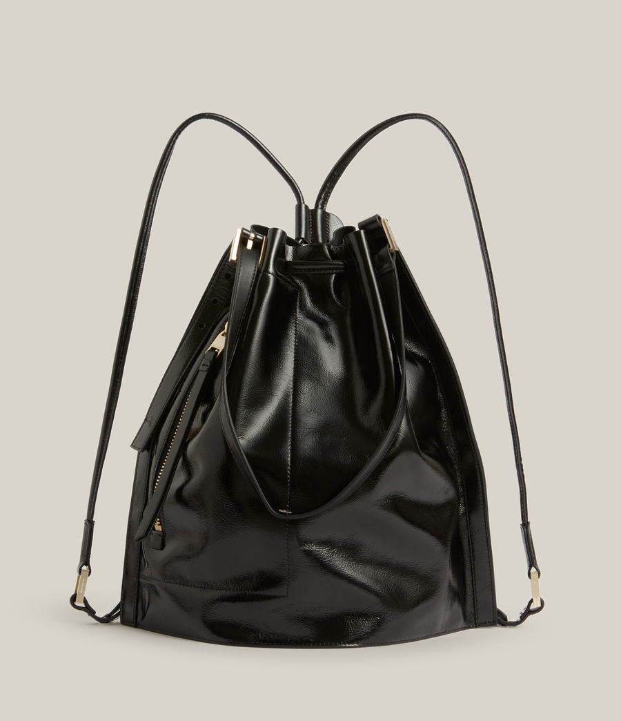 Women's Alpha Leather Backpack (liquid_black) - Image 1