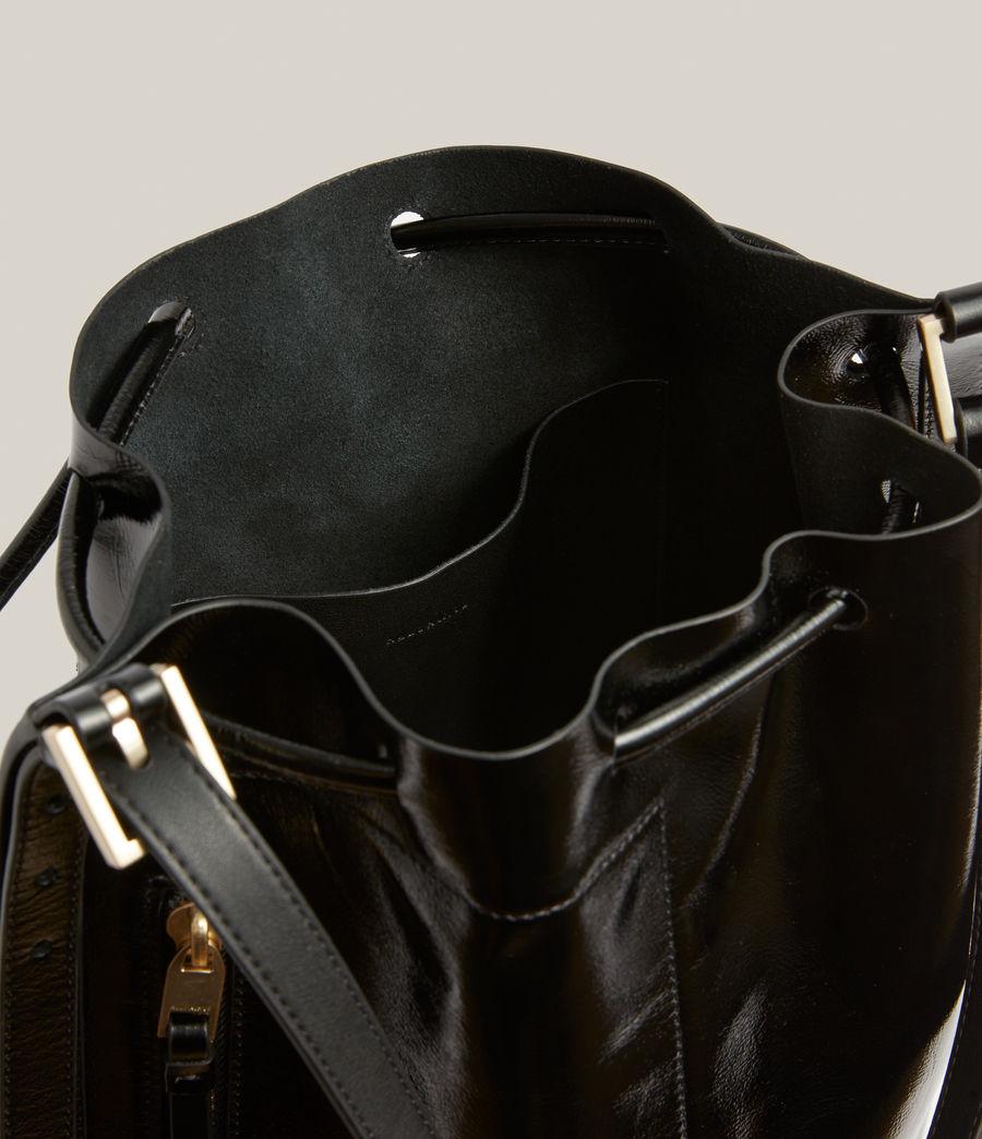 Women's Alpha Leather Backpack (liquid_black) - Image 3