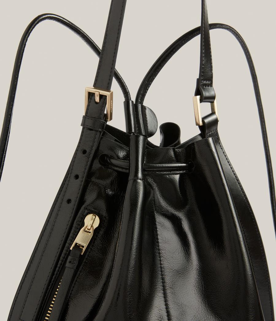 Women's Alpha Leather Backpack (liquid_black) - Image 5
