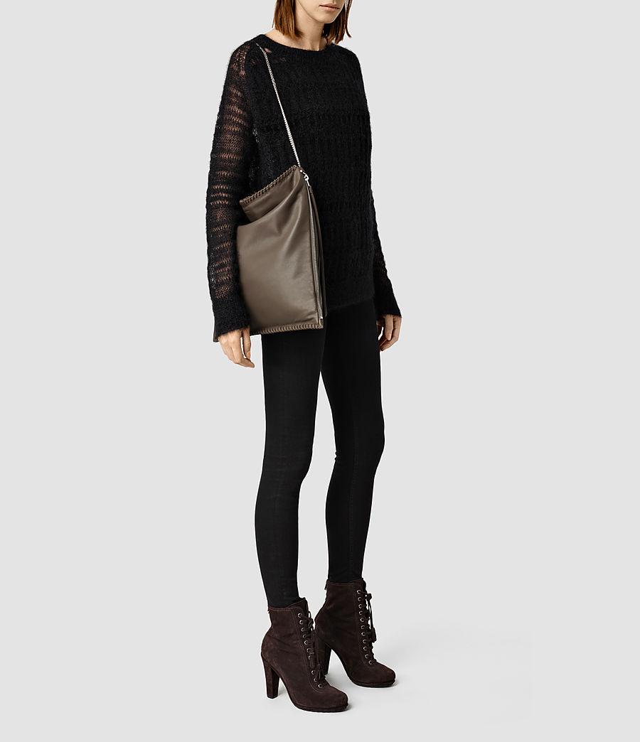 Women's Fleur De Lis Large Bag (cement) - Image 1