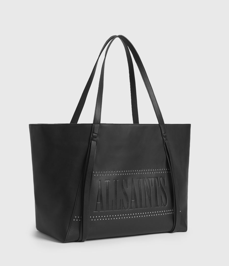 Womens Navarre East West Leather Tote Bag (black) - Image 3