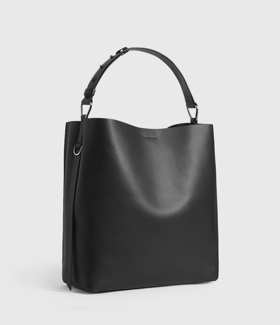 Womens Celadine North South Leather Tote Bag (chalk_white) - Image 2