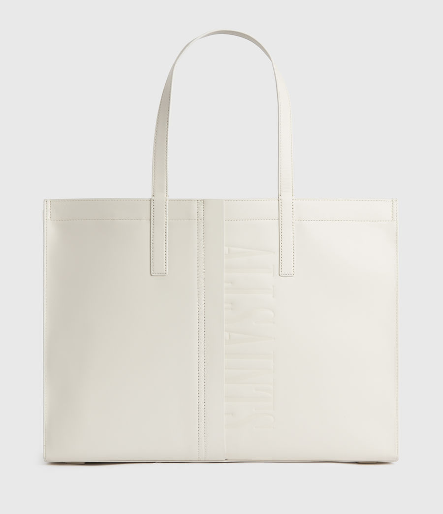 Women's Rochelle East West Leather Tote Bag (chalk_white) - Image 1