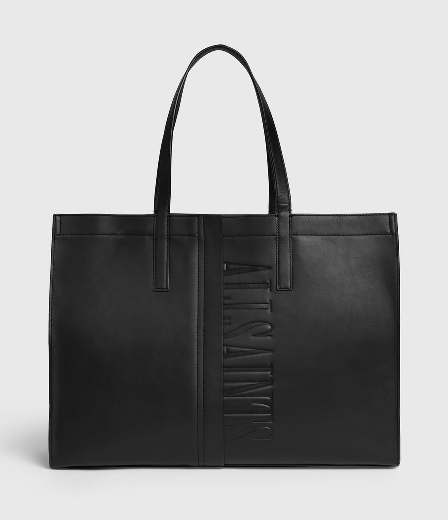Mujer Rochelle East West Leather Tote Bag (black) - Image 1