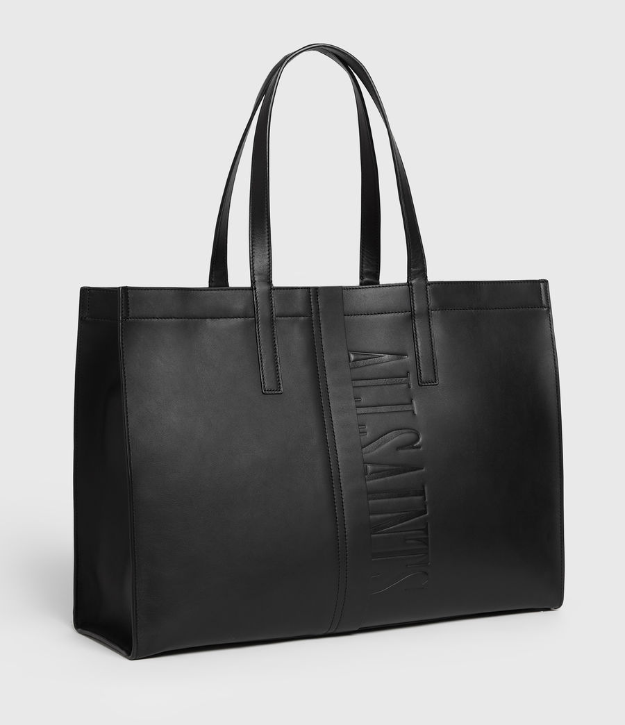 Mujer Rochelle East West Leather Tote Bag (black) - Image 3