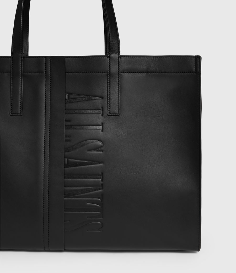 Mujer Rochelle East West Leather Tote Bag (black) - Image 4