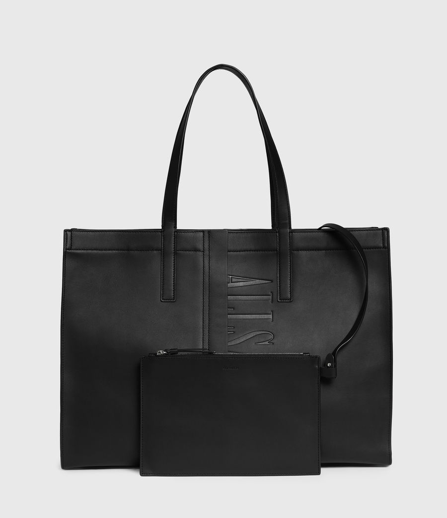 Mujer Rochelle East West Leather Tote Bag (black) - Image 6