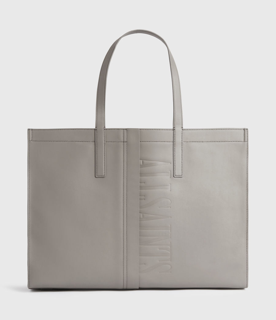 Mujer Rochelle East West Leather Tote Bag (grey_mist) - Image 1