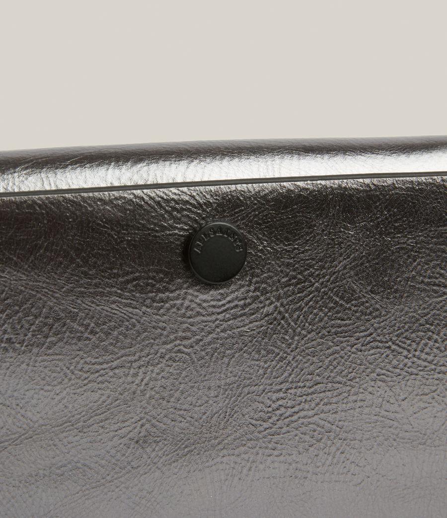 Womens Francoise Leather Crossbody Bag (gunmetal) - Image 7