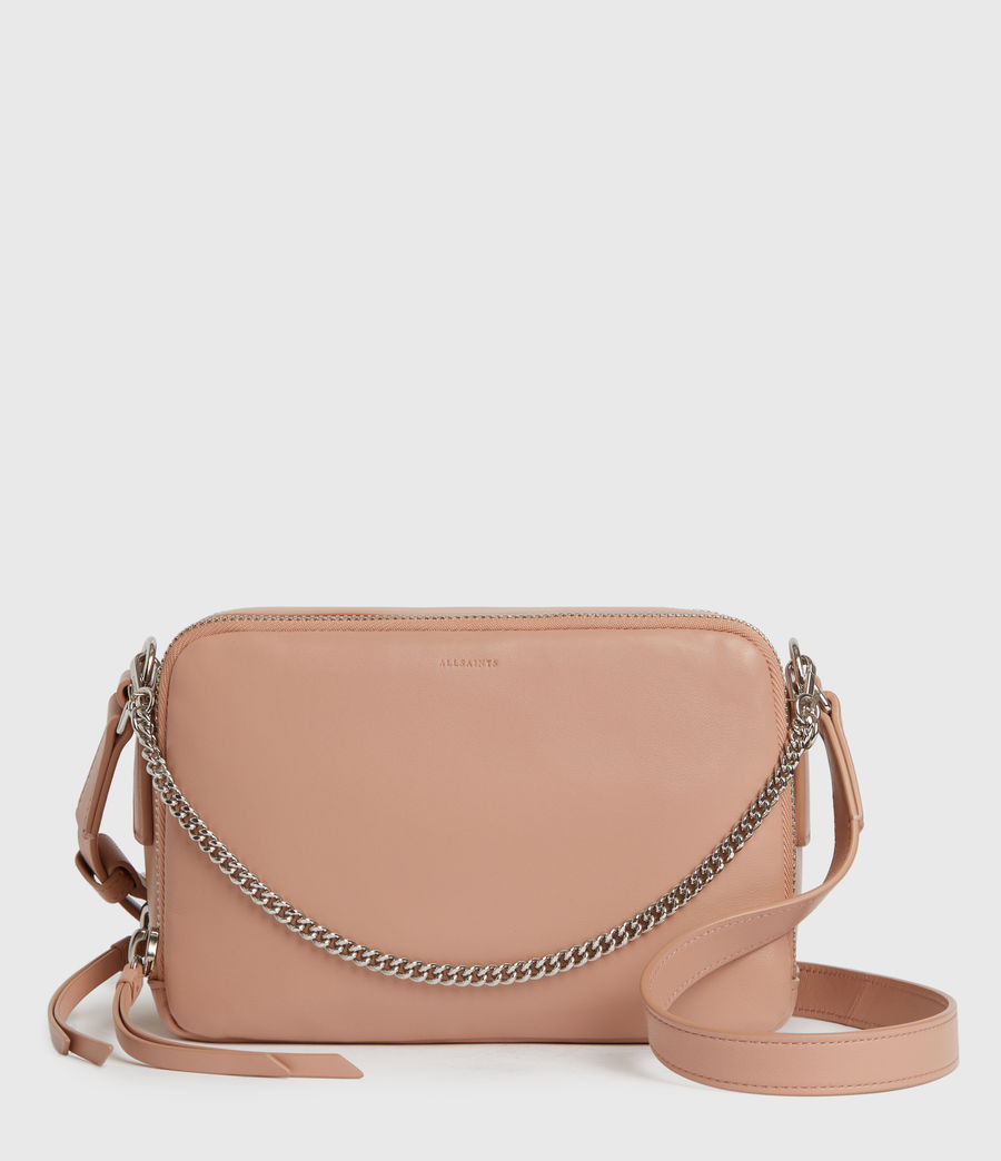 Womens Rosemary Square Leather Crossbody Bag (nude_pink) - Image 1
