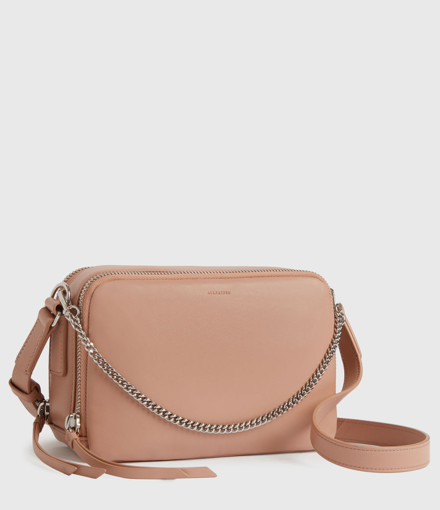 Womens Rosemary Square Leather Crossbody Bag (nude_pink) - Image 3
