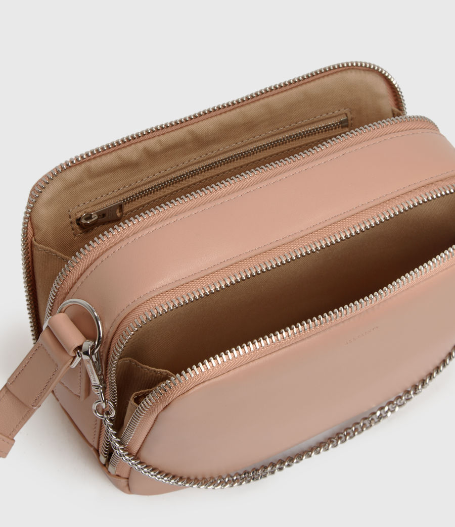 Womens Rosemary Square Leather Crossbody Bag (nude_pink) - Image 4