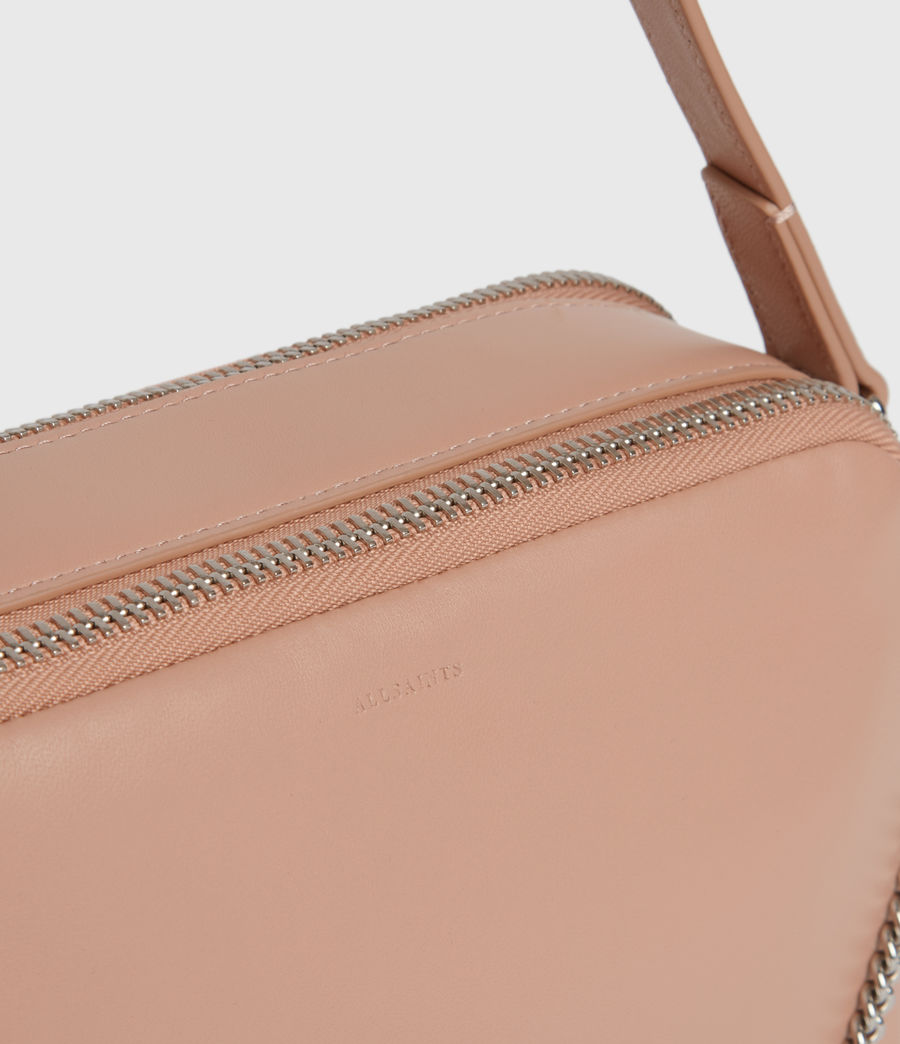Womens Rosemary Square Leather Crossbody Bag (nude_pink) - Image 5
