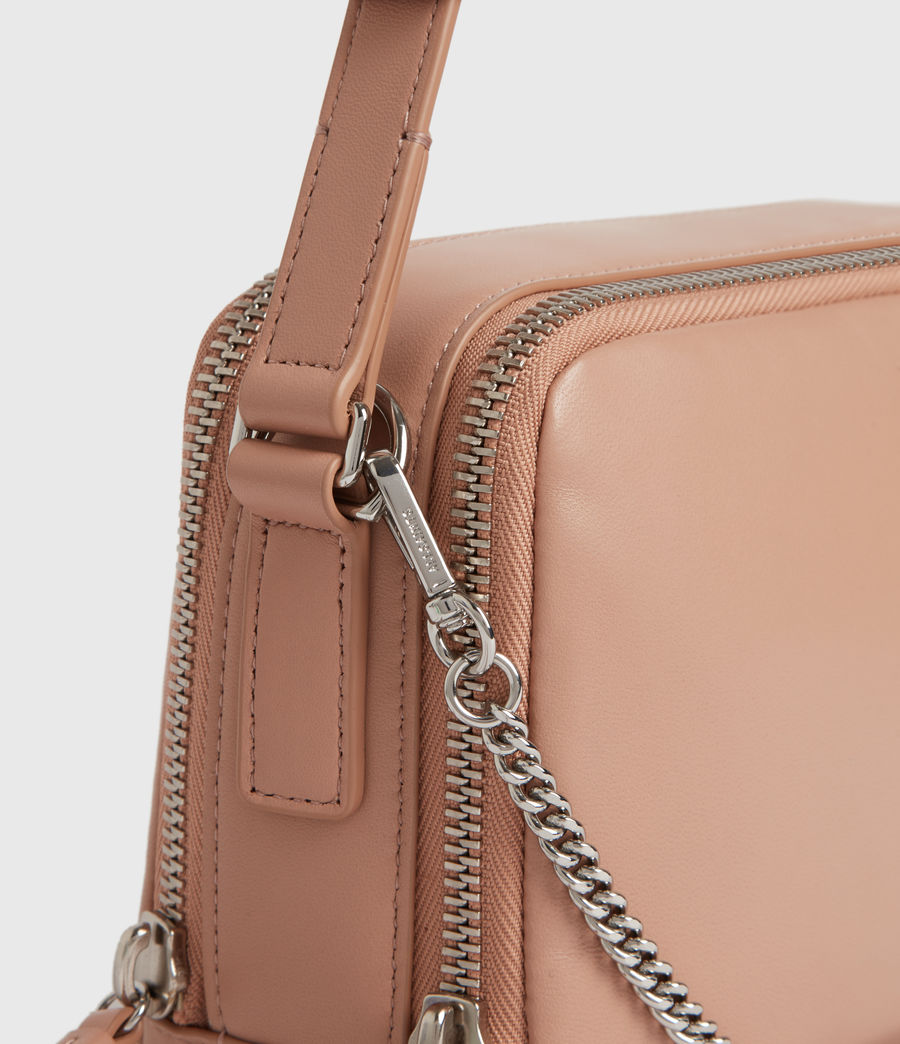 Womens Rosemary Square Leather Crossbody Bag (nude_pink) - Image 6