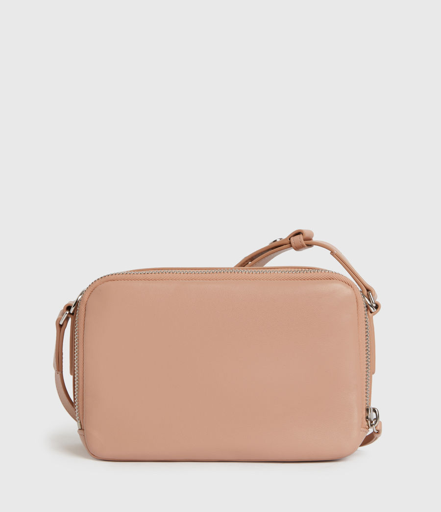 Womens Rosemary Square Leather Crossbody Bag (nude_pink) - Image 7