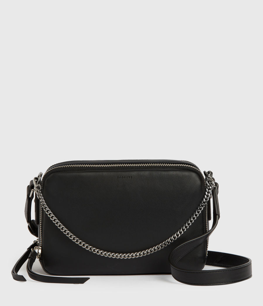 Mujer Rosemary Square Leather Crossbody Bag (black) - Image 1