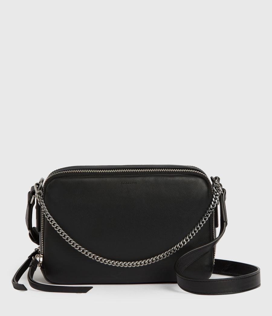 Womens Rosemary Square Leather Crossbody Bag (black) - Image 1