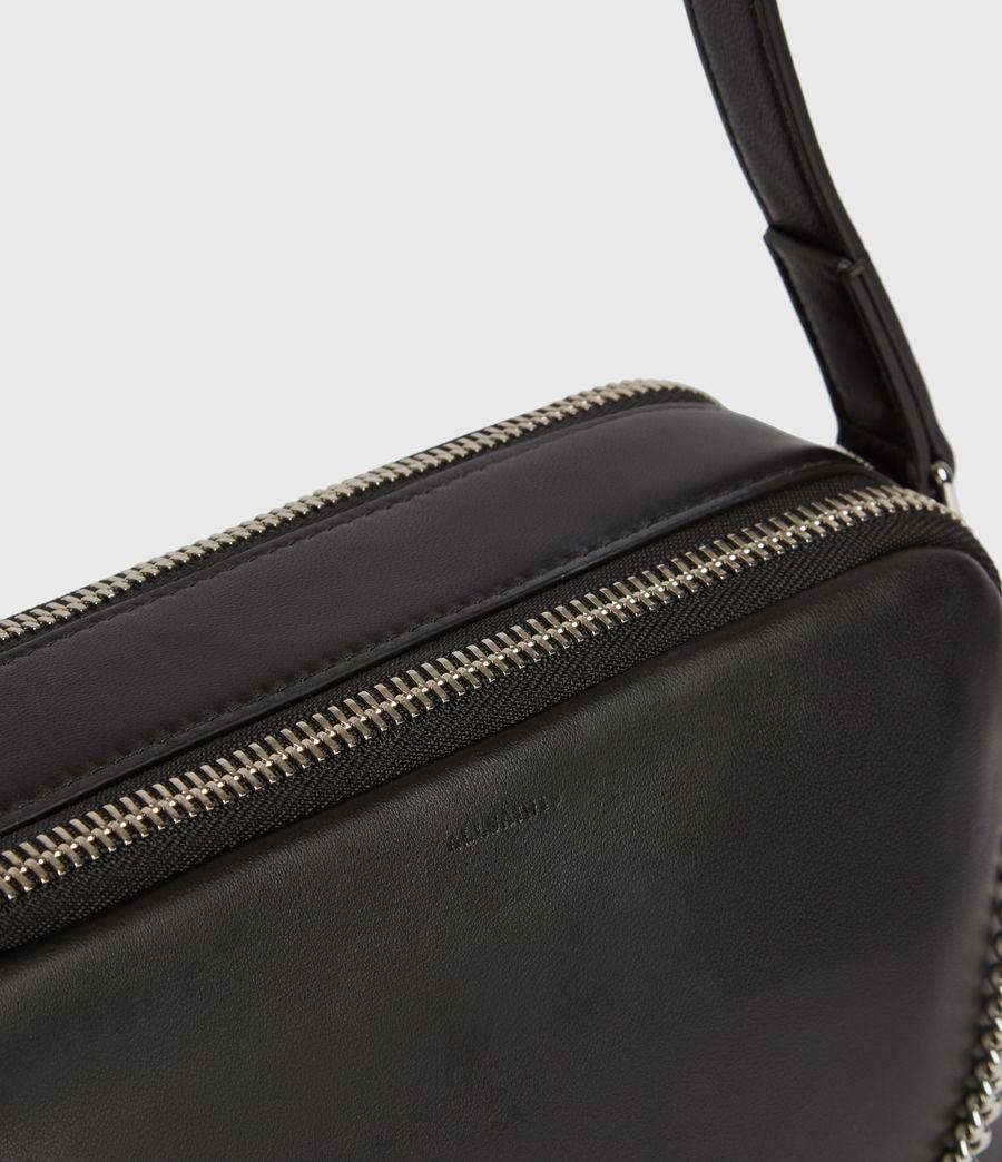 Womens Rosemary Square Leather Crossbody Bag (black) - Image 5