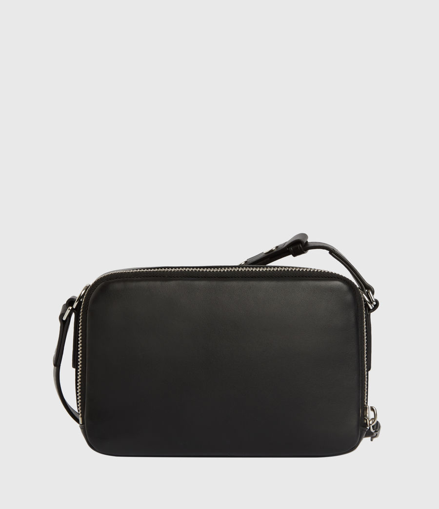 Womens Rosemary Square Leather Crossbody Bag (black) - Image 7