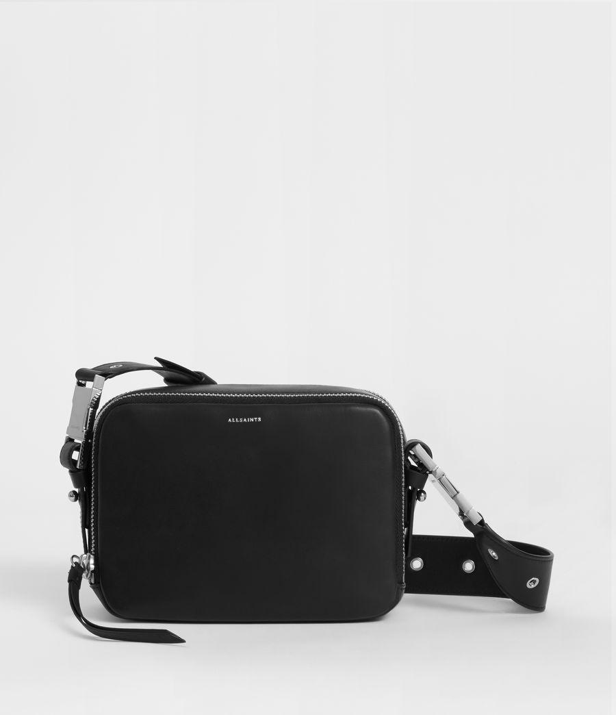 Women's Clip Leather Bumbag Crossbody Bag (black) - Image 1