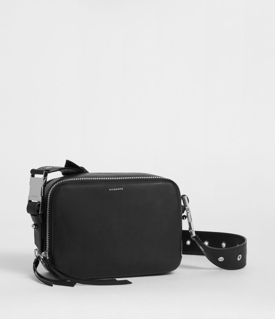 Women's Clip Leather Bumbag Crossbody Bag (black) - Image 2