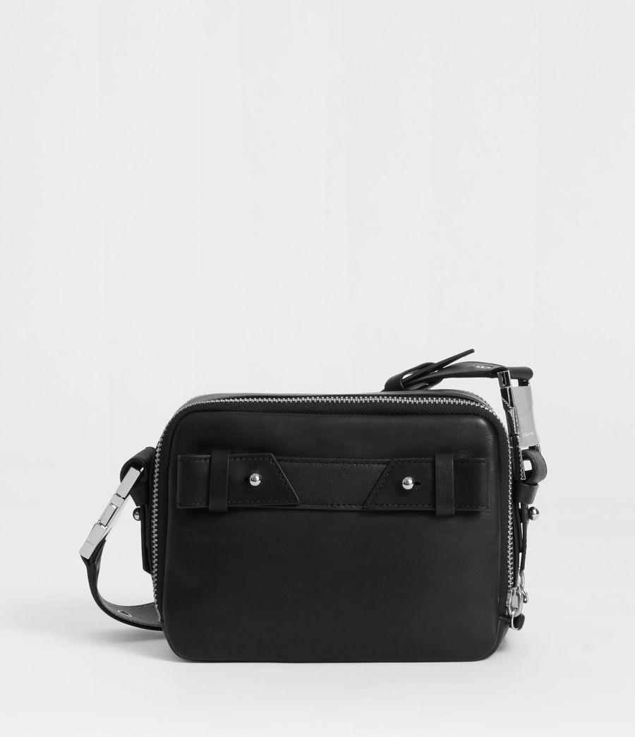 Women's Clip Leather Bumbag Crossbody Bag (black) - Image 5