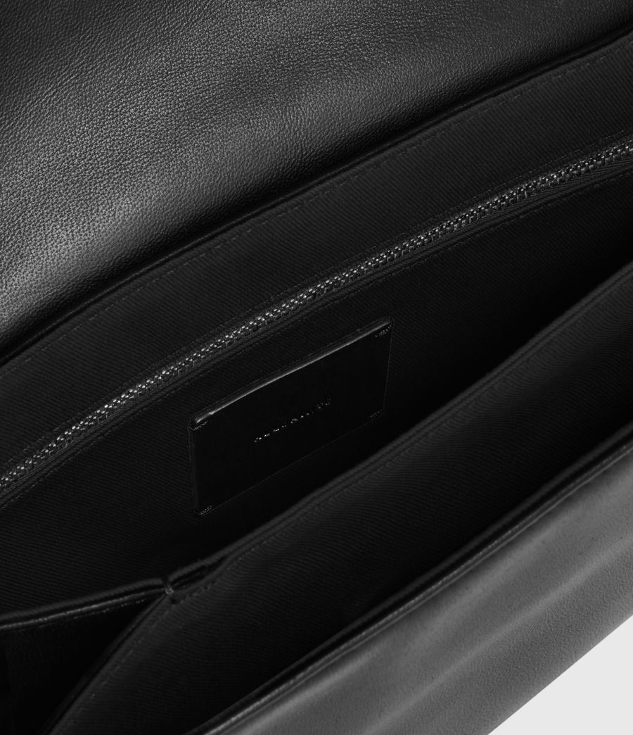 Womens Culford Leather Shoulder Bag (black) - Image 2