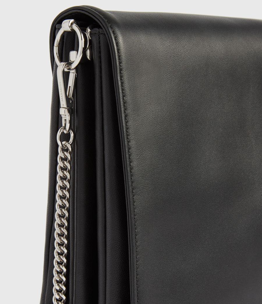 Womens Culford Leather Shoulder Bag (black) - Image 4
