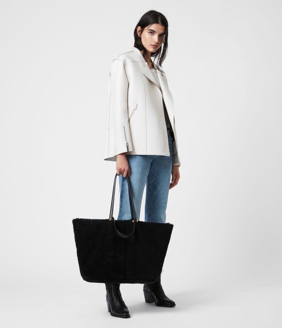 Womens Allington Shearling Tote Bag (black) - Image 1