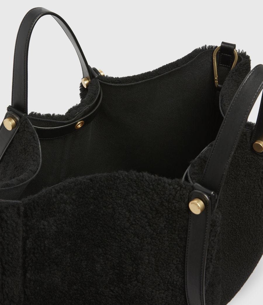 Womens Allington Shearling Tote Bag (black) - Image 3