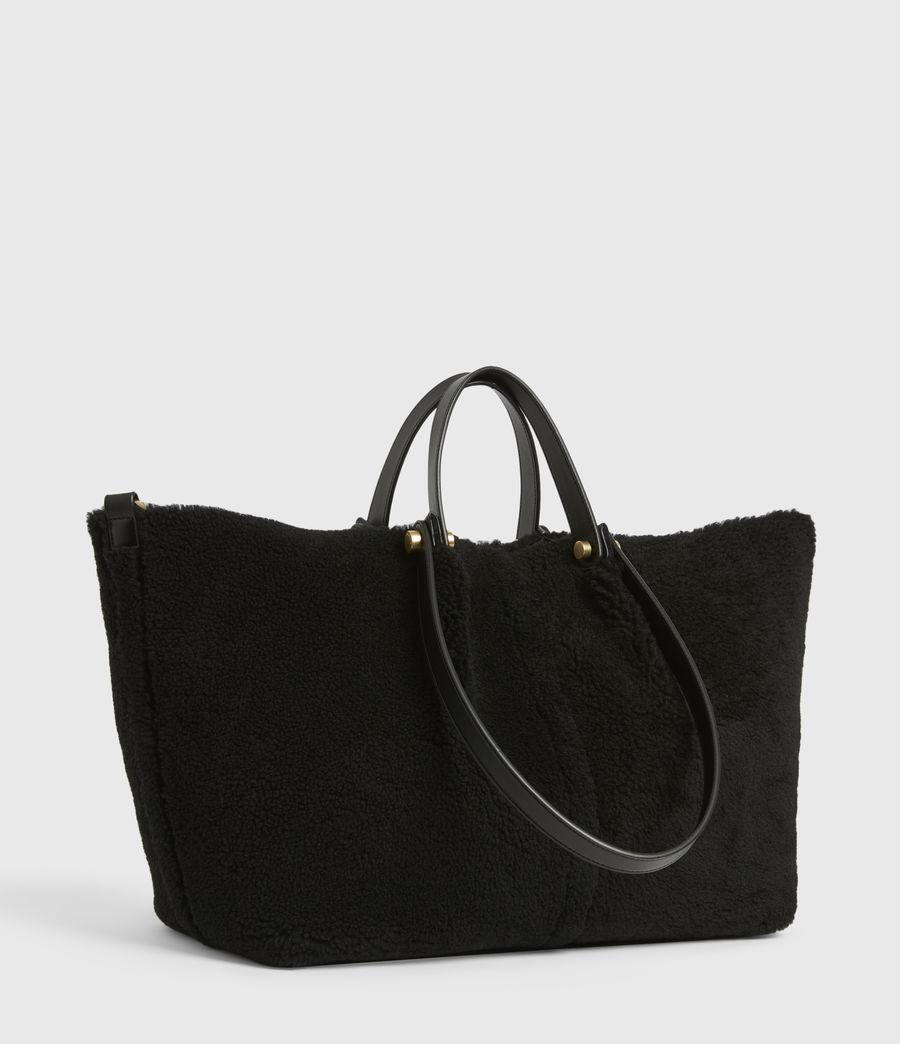 Womens Allington Shearling Tote Bag (black) - Image 4